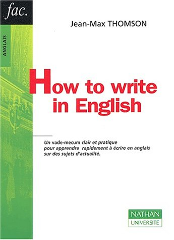 9782091911298: How to write in english