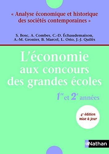 ECONOMIE CONCOURS GDES ECOLES [Jul 08, 2004]: Claude-Danià le Echaudemaison