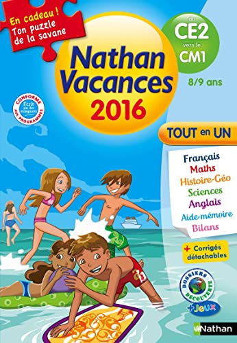 9782091930459: Cahier de vacances 2016 primaire CE2 vers CM1 8/9 ans