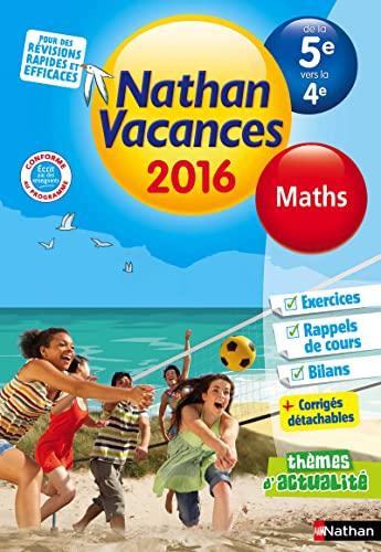 Nathan vacances Maths de la 5e vers: Jean Paul Louis