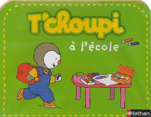 9782092520925: T'choupi à l'école ; T'choupi l'ami des petits : Valisette 2 albums et 1 poster