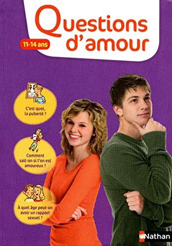 9782092537435: Questions d'amour 11-14 ans