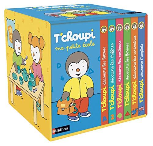 9782092582138: Ma petite école T'choupi : Contient 6 livres : T'choupi découvre les lettres ; T'choupi découvre les formes ; T'choupi découvre les couleurs ; ... les chiffres ; T'choupi découvre l'anglais