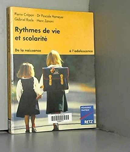 9782096015489: Rythmes de vie et scolarité : de la naissance à l'adolescence