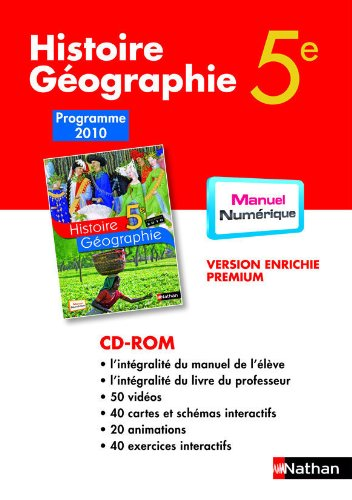 9782098003415: CD-ROM Histoire-Geographie 5e Mn Tna