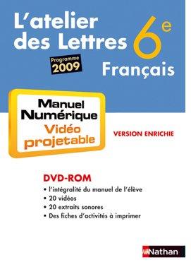 """""""français ; 6ème ; manuel numérique (édition 2009)"""""""