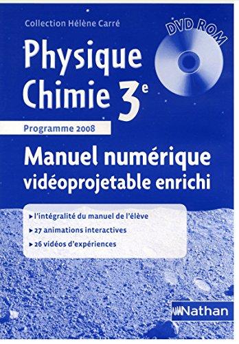 DVD ROM VIDEOPROJETABLE ENRICHI PHYSIQUE CHIMIE 3ETARIF ADOPTANT Livre scolaire
