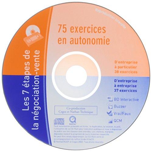 RECHARGE EXERCICES 8 CD LES 7 ETAPES DE LA NEGOCIATION-VENTE 2008 Livre scolaire