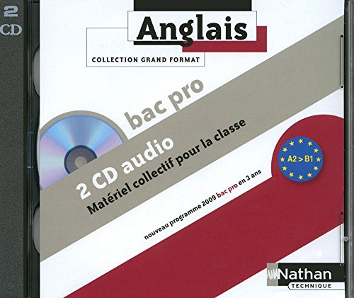 """anglais ; Bac pro ; niveau A2 à B1 ; 2 CD audio collectifs"""