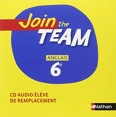 9782098762459: Join the Team 6e CD Audio Eleve Remp2006