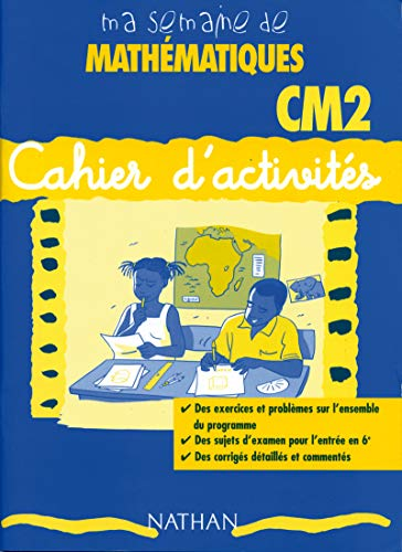 9782098825956: Ma semaine de mathematiques CM2 cahier activit�
