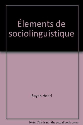 9782100002139: Élements de sociolinguistique