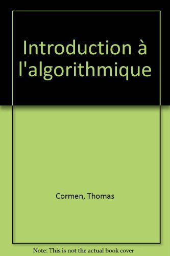9782100019335: Introduction à l'algorithmique