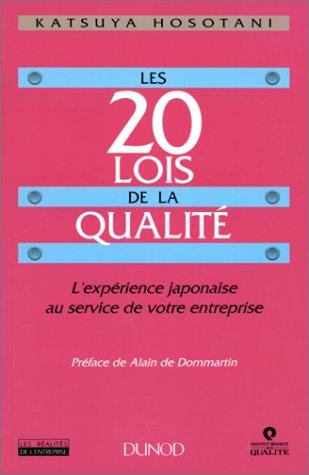Les 20 lois de la qualité: Katsuya Hosotani