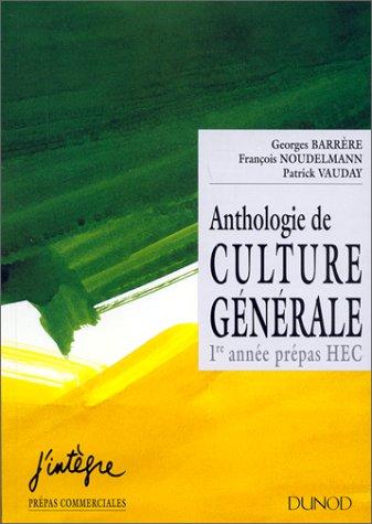9782100028245: Anthologie de culture générale
