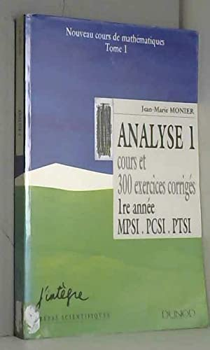 9782100030613: Cours de math�matiques Tome 1 : Analyse 1