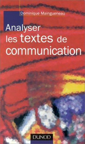 9782100031320: Analyser les textes de communication