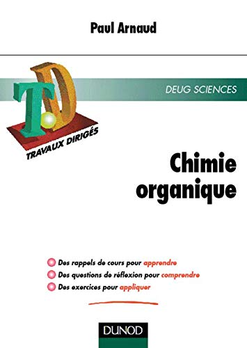 9782100033621: TD Chimie organique : DEUG Sciences
