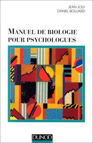 9782100035823: Manuel de biologie pour psychologues