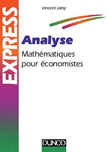 9782100036318: Analyse : Math�matiques pour �conomistes