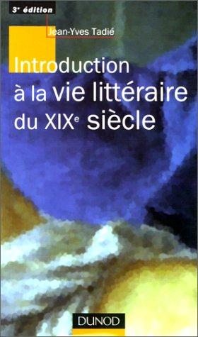 Introduction à la vie littà raire du: Tadià , Jean-Yves