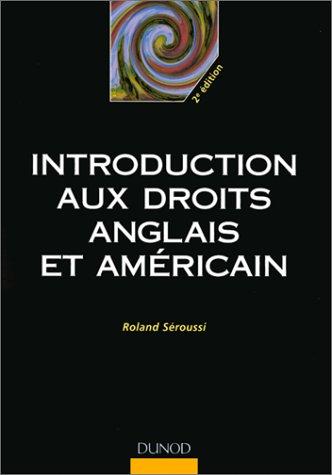 9782100044160: Introduction aux droits anglais et am�ricain