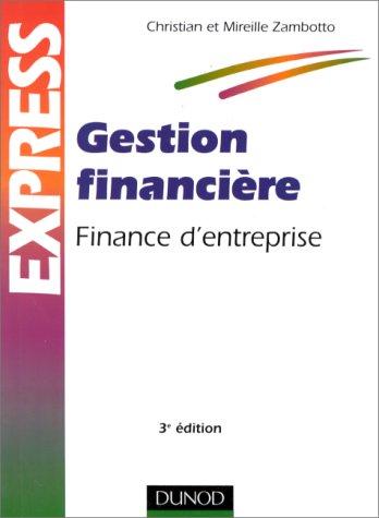 9782100045051: GESTION FINANCIERE. Finance d'entreprise, 3ème édition
