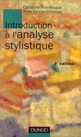 9782100046744: Introduction à l'analyse stylistique, nouvelle édition