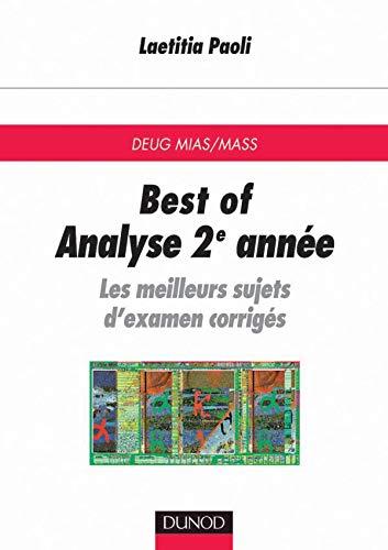 Best Analyse 2e année : Les meilleurs sujets d'examen corrigés: Paoli, Laetitia