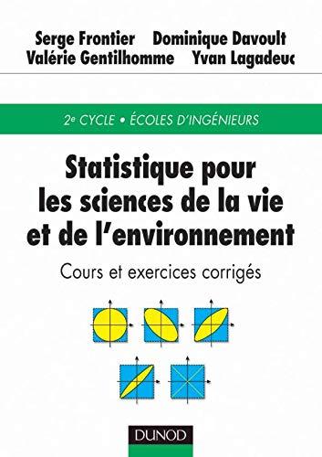 9782100053933: Statistique pour les sciences de la vie et de l'environnement : Cours et exercices corrigés
