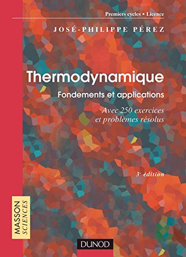 9782100055548: Thermodynamique : Fondements et applications - Exercices et probl�mes r�solus