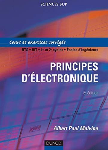 9782100058105: Principes d'électronique : Cours et exercices corrigés