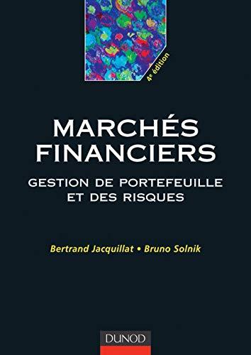 9782100063642: Les marchés financiers : Gestion de portefeuilles et des risques