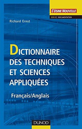 9782100063970: Dictionnaire des techniques et sciences appliqu�es (Fran�ais - Anglais)