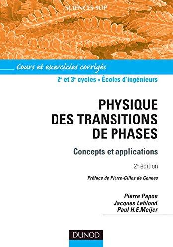 9782100065516: Physique des transitions de phase : Concepts et applications - Cours et exercices corrig�s