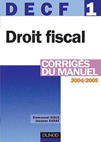 9782100074969: Droit fiscal DECF 1 (French Edition)