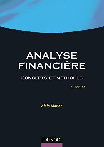 9782100075324: Analyse financière : Concepts et méthodes