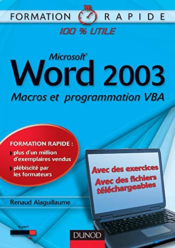 9782100489619: Word 2003 : Macros et programmation VBA