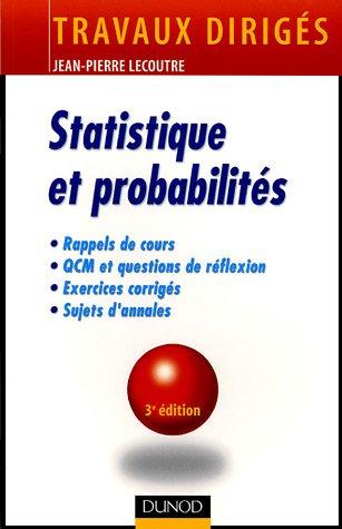 Statistique et probabilités: Jean-Pierre Lecoutre