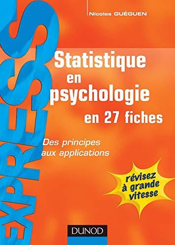 9782100495634: Statistiques en psychologie - en 27 fiches: en 27 fiches