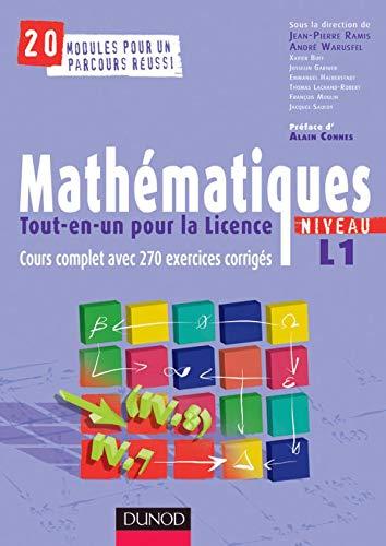 9782100496143: Mathématiques tout-en-un pour la licence Niveau L1 : Cours complet et 270 Exercices corrigés