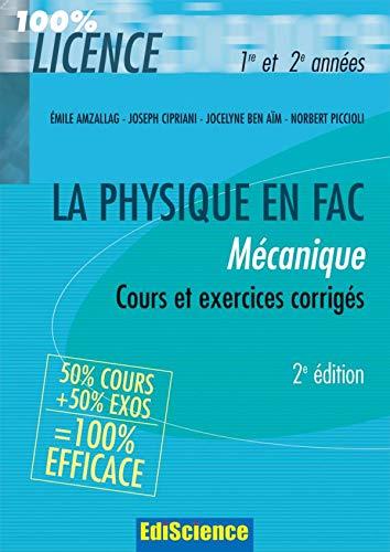 9782100510207: Mécanique : Cours et exercices corrigés 1e et 2e années