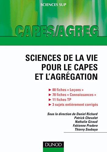 9782100516247: Sciences de la vie pour le capes et l'agrégation