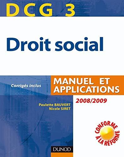 9782100519613: Droit social DCG3 : Manuel et applications