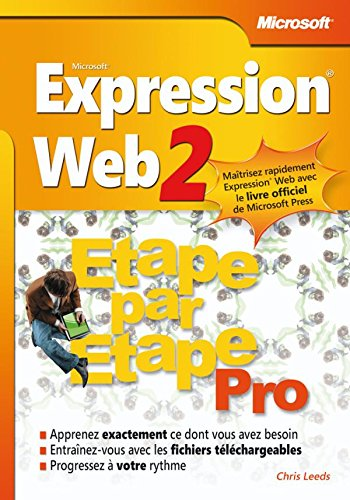9782100525379: Microsoft Expression Web 2 - Etape par Etape Pro