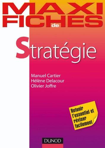 9782100526505: Maxi fiches de Strat�gie