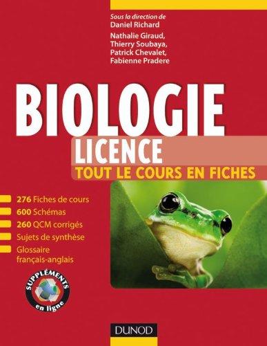 9782100534494: Biologie (Licence) -Tout le cours en fiches, QCM et bonus web