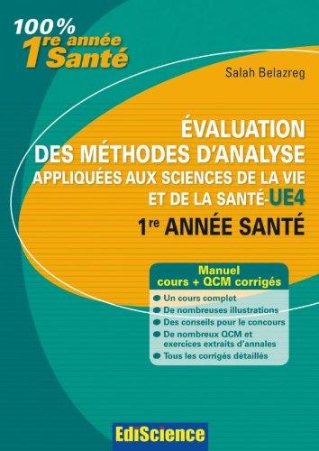 Evaluation des méthodes d'analyse appliquées aux sciences: Salah Belazreg
