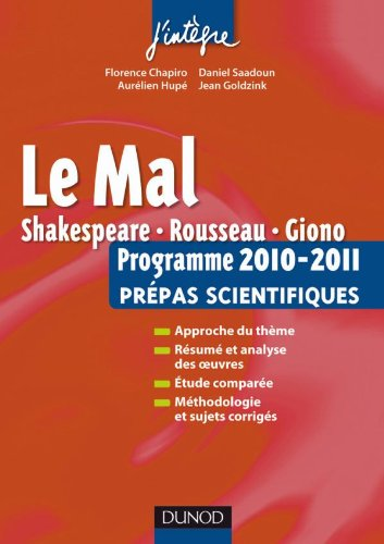 LE MAL : PROGRAMME 2010-2011 PREPAS SCIENTIFIQUES