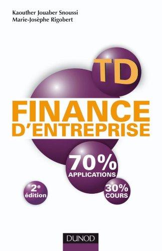 9782100549504: TD de finance d'entreprise - 2e édition